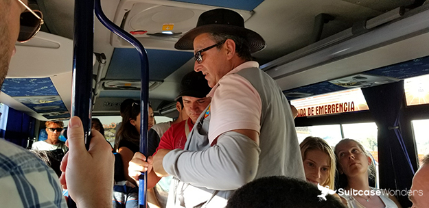 bus ride back to Medellin from Guatape